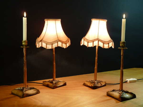 Lampes et bougeoirs gigogne